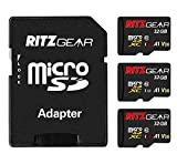 RitzGear Extreme Performance 32GB MicroSDXC Memory Card 3-Pack, Class10 V30 A1 U3 UHS1 Micro SD Card Compatible w/Nintendo Switch, Gaming Console, Tablet, Smartphones, Action Camera
