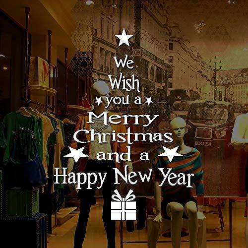 carol -1 Weihnachtliche Winterliche Fensterbilder Weihnachtsdeko Fensterdekoration Scheibendekoration, Wiederverwendbar, Fensterbilder für Weihnachten, Aufkleber Fensterbilder Aufkleber Abziehbilder