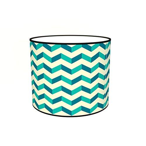 Abat-jours 7111307474746 Conique Imprimé Triono Lampadaire, Tissus/PVC, Multicolore