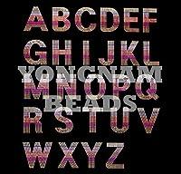 【アルファベット】 スパンコールモチーフ 【I】 アイロン接着可 ロゴに最適のおおきめサイズ ご希望の文字を色選択よりお選びください。