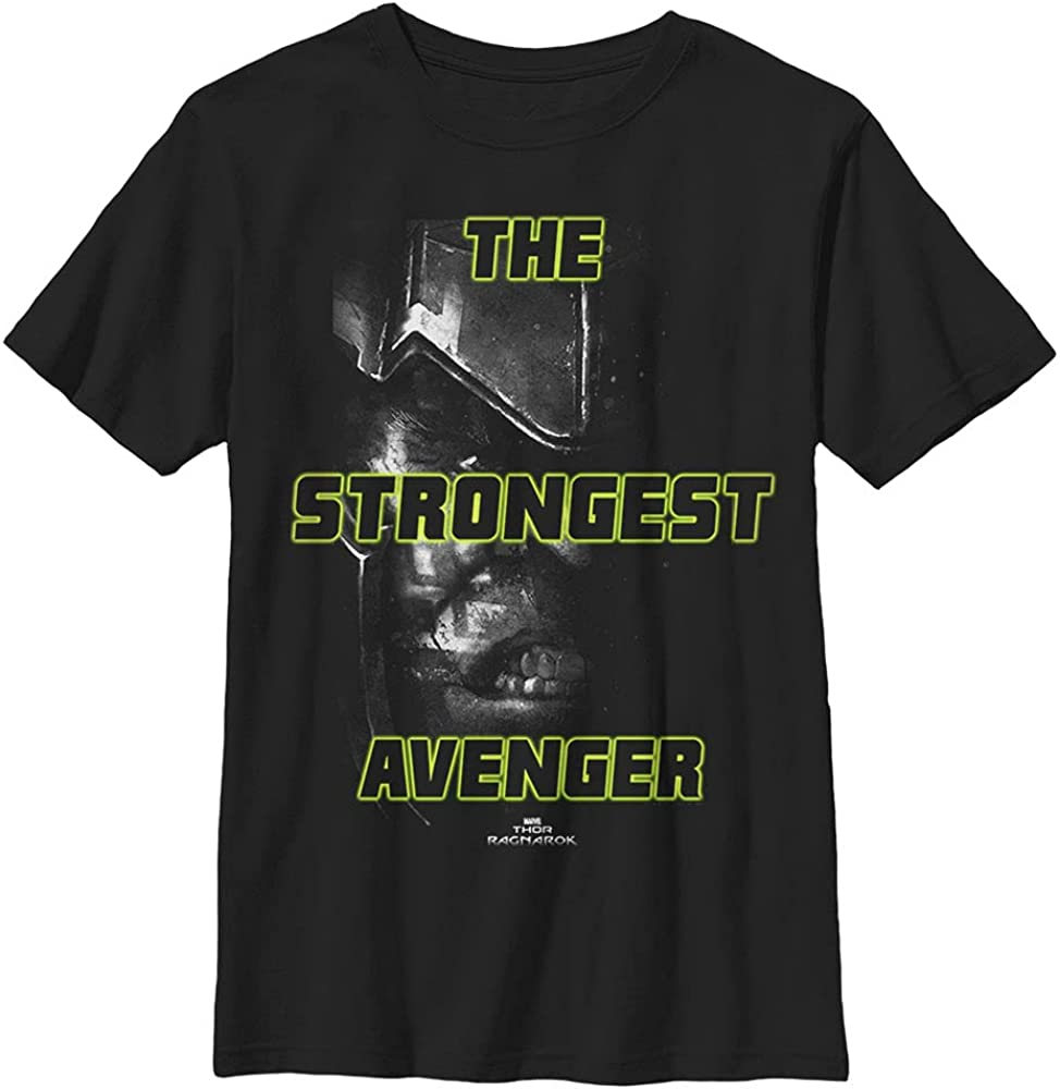 Marvel Universe Greenest Avenger Boy's Solid Crew Tee