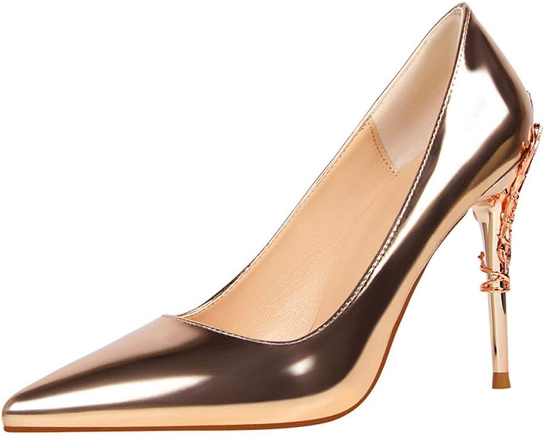 Owen Moll Women Pumps, Luxury Metal Stiletto High Heels Autumn Party Wedding shoes
