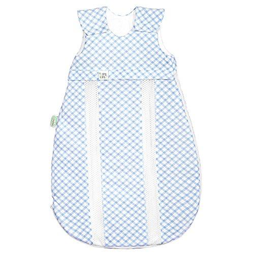 Odenwälder Jersey-Schlafsack primaklima check cool blue, Größe in cm:110 cm