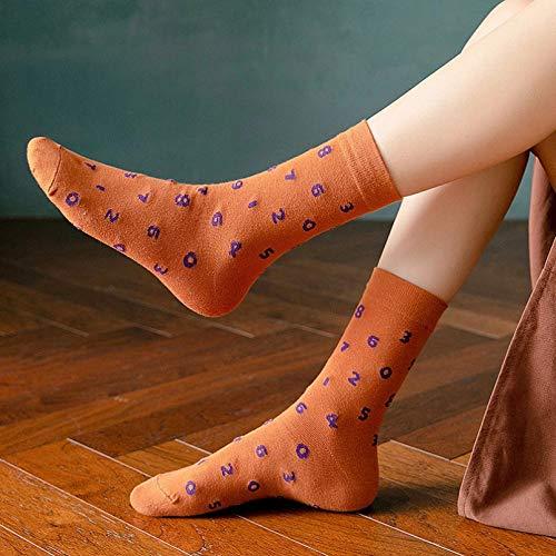 KANGDE Primavera otoño Mujer Calcetines patrón niña algodón Calcetines Moda Regalos