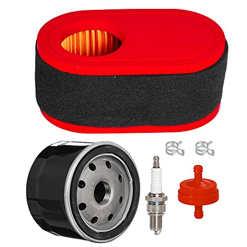 Carkio Air Filter Fuel Filter Kit Compatible with Kawasaki FR541V FR600V 4-Cycle Engines 11013-0727 11013-7050 99999-0383 Lawn Mower