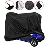 Sqodok Mobility Scooter Storage Cover Waterproof, Wheelchair Cover Scooter Weather Cover for Travel Lightweight Electric Chair Cover Protector from Dust Dirt Snow Rain Sun Rays