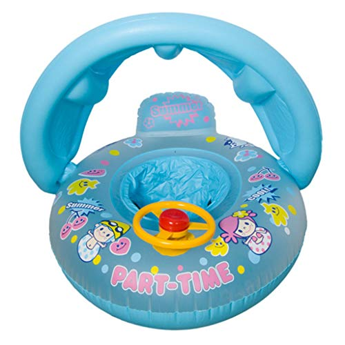 ZZALLL bebé niños Verano Anillo de natación Inflable Asiento de yate Flotador Barco natación Piscina Juguete