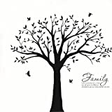 Bdecoll Wandtattoo'riesiger Familie Foto Baum' Wandsticker,DIY Dekorativ Kunst Wandaufkleber,Baum Wandaufkleber für Kinderzimmer Dekoration (Schwarz)