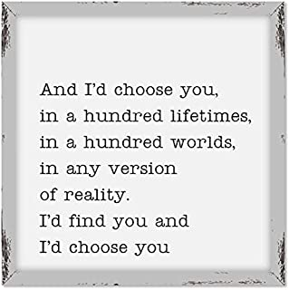 My Word! and I'd Choose You Wooden Sign, 18