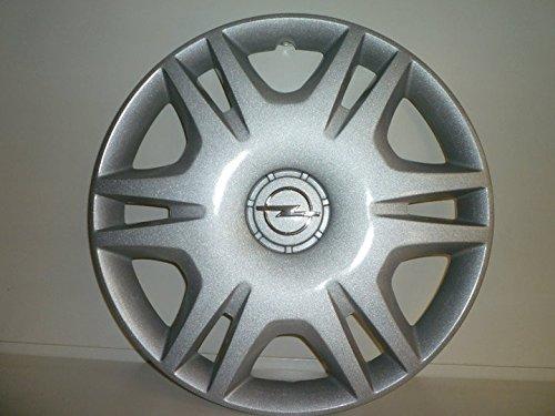 Lot de 4 Enjoliveurs Enjoliveur Boutons Clous de voiture Coupes Rivets Roue Opel Corsa r 16 depuis 2006 (Sc 466L) Logo Chromé