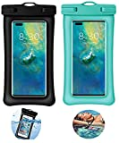 Funda para Smartphone Flotante Impermeable 2 Packs Funda para Móvil Impermeable con Doble Airbag para Teléfono iPhone 12, 12 Pro Max, 11, 11 Pro, XS Max, XR, XS, X, 7 8, Galaxy S21/S20/S10,