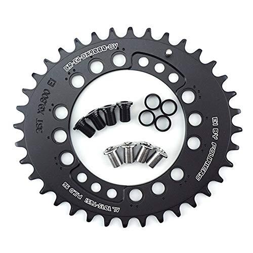 SHP Cerro de Bicicleta Shihongping y Aproockt CR-E1-DX8000-OV BCD96 MTB Mountain Bike Oval Plato for XT 11 M8000 Velocidad del cigüeñal 34T 36T (Color : 36T Black)