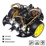 Kit de robot de iniciación electrónica con Arduino, para proyecto de graduación [seguimiento de línea, evite obstáculos, ultrasónico con tutorial]