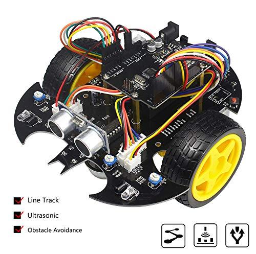 Elektronisches Starterprojekt-Roboter-Set mit Arduino, für Abschlussprojekte [Linienverfolgung, Hindernisvermeidung Ultraschall mit Tutorial]