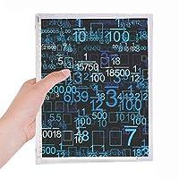 デジタル・科学・技術・小数のイラスト 硬質プラスチックルーズリーフノートノート