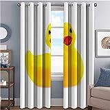 Cortinas opacas de goma con aislamiento de juntas, diseño de pato, color amarillo y amarillo
