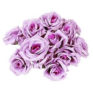 BESPORTBLE 20pcs Artificial Curving Brim Rose Silk Rose Flowers Decor Craft Flower for Wedding Birthday Engagement