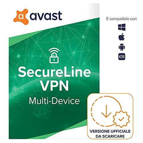 Avast SecureLine VPN - Rete privata virtuale per la protezione della privacy - Download | 5 Dispositivo | 1 Anno | PC Mac | Codice d attivazione via email