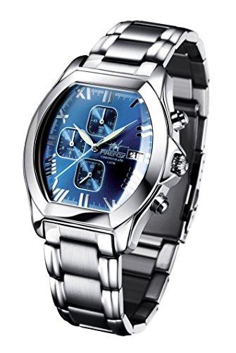 FIREFOX NEBUKADNEZAR FFS170-103a Sunray blau Herrenuhr Armbanduhr Chronograph massiv Edelstahl Sicherheitsfaltschließe wasserdicht Kaliber Uhrwerk Miyota OS10