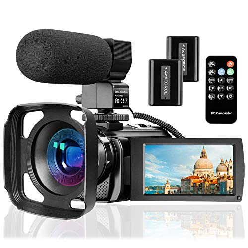 Video Camera Camcorder with Microphone, VideoSky...