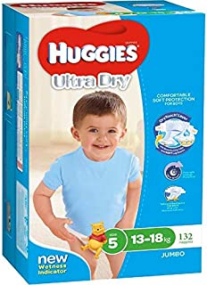 Huggies Huggies Nappies Ultra Dry Day & Night Size 5 Boy (132 Count), 132 Count