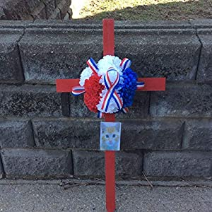 Cemetery Wooden Cross, Soldiers Memorial, Cemetery Artificial Flowers, Picture Frame, Roadside Memorial