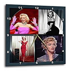 3dRose DPP_107180_2 Marilyn Monroe Collage-Wall Clock, 13 by 13-Inch