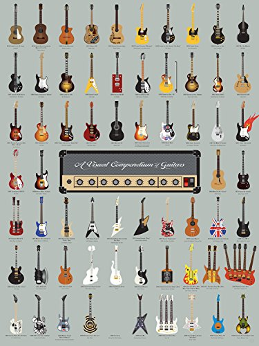 Pop Chart A Visual Compendium of Guitars Poster Print, 18