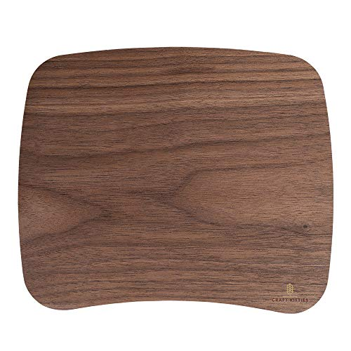 Biodegradable American Walnut Mouse Pad - Gaming Mouse Mat for Wooden Constant Temperature, Anti-slip Waterproof Rubber Mouse Mat,10.2X8.6In for Office Home Gaming Laptop Men Women Kid - Craft Kitties