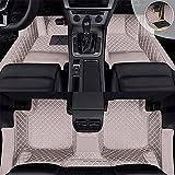 Maiqiken Alfombrillas de coche para Audi Q7 7 plazas 2016 – 2019, almohadilla de piel sintética para los pies cubre el umbral del coche, alfombrilla antideslizante para todo tipo de clima, color gris