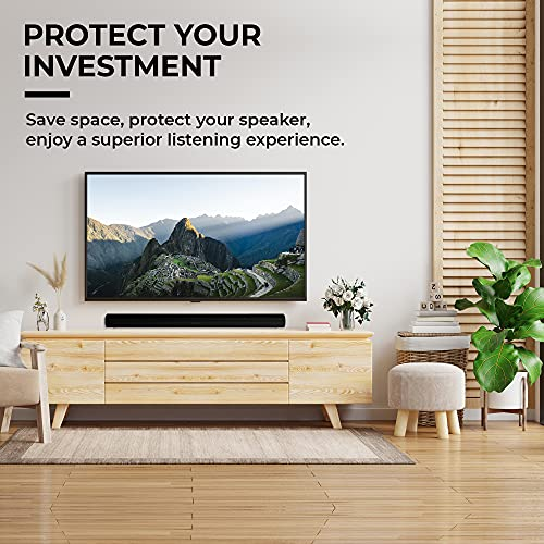 HumanCentric Wall Mount Compatible with Sonos Arc Sound Bar (Black) | Mounting Bracket Compatible with Sonos Arc to Mount Soundbar on Wall Under TV