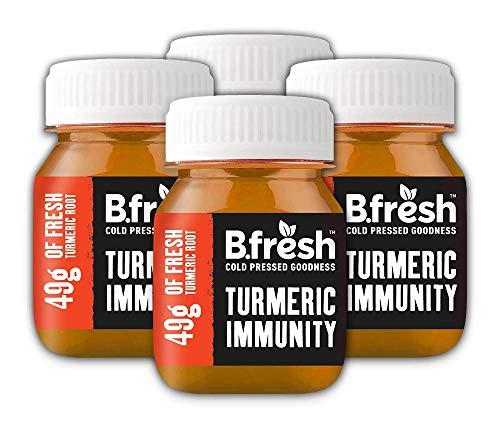 Turmeric Shots - Immunity with Vitamin D3-49g Raw Turmeric - Cold Pressed Drink (10 x 70ml)