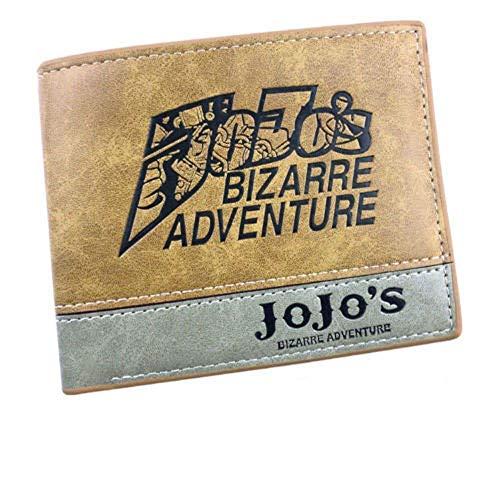 Anime JoJo Bizzare Adventure Logo Jonathan Joestar Cartera monedero titular de la tarjeta monedero capas pu carteras traje Otaku regalo