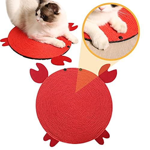 JuneJour Kratzbrett für Katzen Kratzmatte Katze Kratzmöbel mit Katzenminze Spielzeug für Katzen und Hunde Kratzpad Scratching Pad