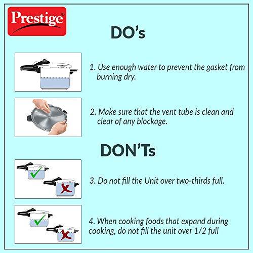 Prestige Popular Aluminium Pressure Cooker, 5 Litres, Silver