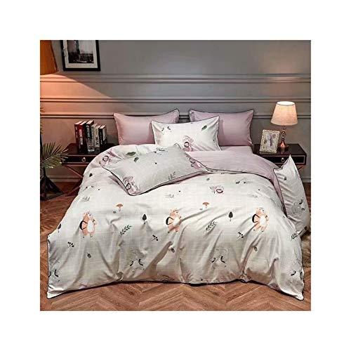 KAVNAR Juego de Cama Francesa Tencel de Cuatro Piezas Hoja de edredón Duvet Cover Set Tencel Ropa de Cama de satén (Color : White, Size : Quilt Cover 2x2.3M)