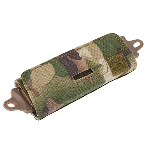 Helmet Accessory Bag Nylon Tactical Helmet Fast Rear Counterweight Bag for OPS/Fast/BJ/PJ/MH Helmets with Arc Rails(Camouflage)