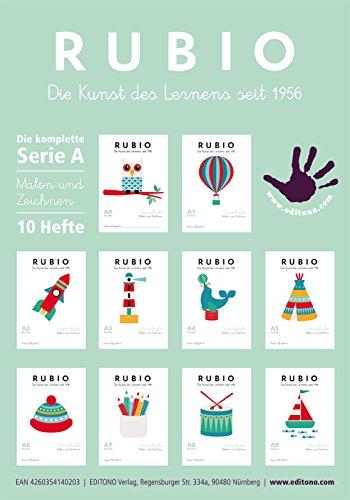 Schwungübungen, Zeichnen und Malen mit RUBIO - Komplette Serie A0 - A9, 1. Klasse, Vorschule, Kindergarten