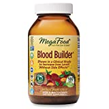 MegaFood, Blood Builder, Iron Supplement, Support Energy and Combat Fatigue without Nausea or Constipation, Non-GMO, Vegan, 180 Tablets/Take 1 Daily