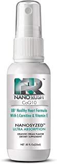 NanoRush UB1 CoQ10 Oral Spray-Healthy Heart and Cardiovascular Health with Nanotechnology for Quick and Easy Absorption Without Pills (Orange Cream Flavor Spray 30 Day Supply)
