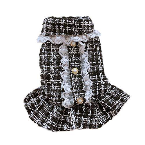 XZJJZ Princesa Perro Gatos Vestido con Capucha con Capucha diseño diseño Mascota Cachorro Falda otoño/Invierno Ropa Ropa (Size : S Code)