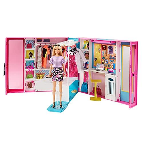 バービー(Barbie) バービードリームクローゼット まわる!ハンガーラック【着せ替え人形・ハウス 】【ドール、アクセサリー付き】【3歳~】 GBK10