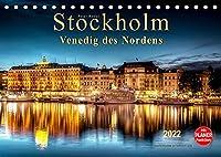 """Stockholm - Venedig des Nordens (Tischkalender 2022 DIN A5 quer): Seinem durch Bruecken und Wasserwege gekennzeichneten Stadtbild verdankt Stockholm die Bezeichnung """"Venedig des Nordens."""" (Geburtstagskalender, 14 Seiten )"""