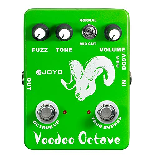 JOYO JF-12 Voodoo Octave Effect FUZZ Effect Pedal for Electric Guitar Pedal Fuzz Octaver with MID Cut