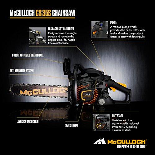McCulloch CS 35S Petrol Chainsaw, 35cc, 14 Inch