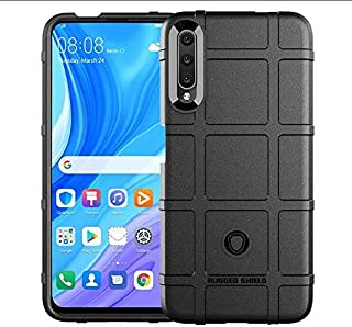 For Huawei Y9S Mobile Phone Case Anti-Fall Thick TPU Shield Protective Cover-Black