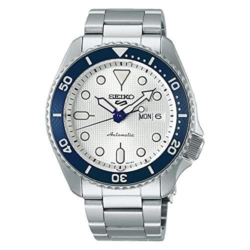 Seiko Herren Analog Automatik Uhr mit Edelstahl Armband SRPG47K1