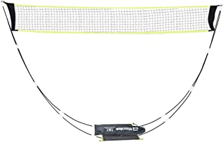 KIKILIVE Weiershun Portable Badminton Net with Stand Carry Bag, Folding Volleyball Tennis Badminton Net – Easy Setup for for Outdoor/Indoor Court, Backyard, No Tools or Stakes Required
