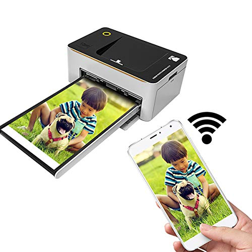 Tanneqi WiFi-fotoprinter, zwart/wit (10 × 15 cm, perfect draagbaar, micro-USB, 5-polig, compatibel met SSP-40, 80, 120)