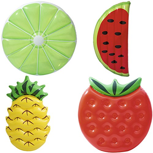 Bestway 43159 Fruit Float Assortment Luftmatratze im Fruchtdesign, 20 x 5 x 19,7 cm